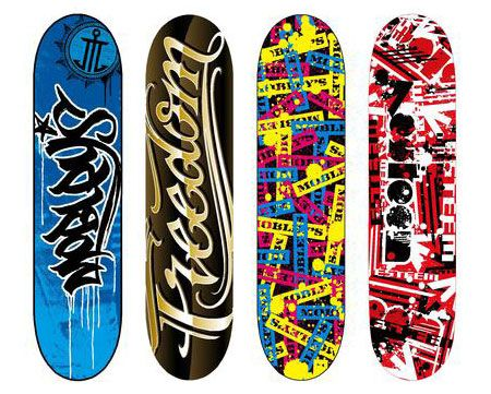 220+ Stunning Creative Skateboard Graphics
