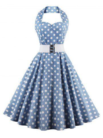 Robe vintage bleu clair