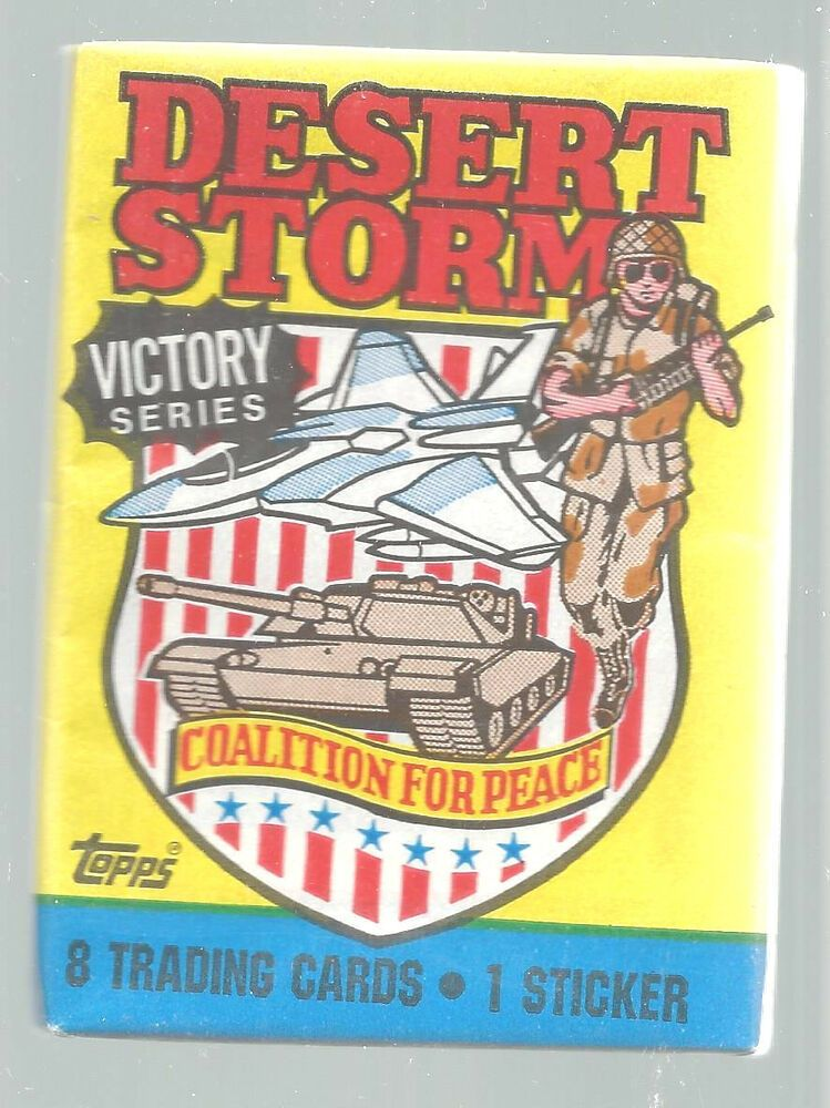 1991 topps desert storm victory series coalition peace