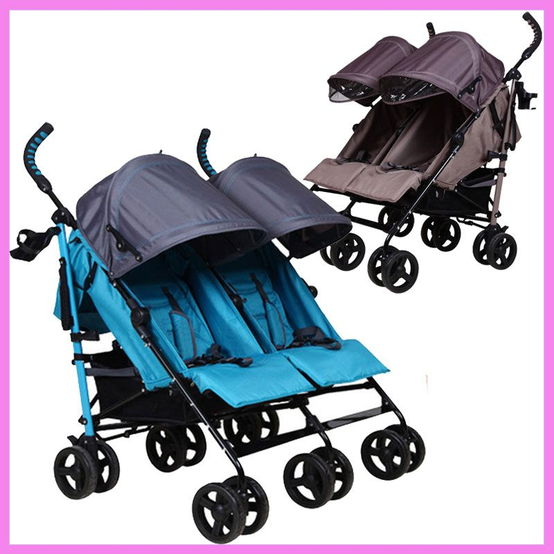 Double Baby Stroller for Twins Lightweight Portable