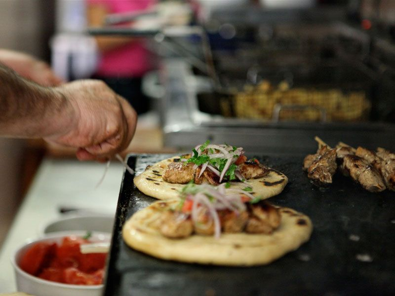 Classic Souvlaki Joints in Downtown Athens Athens food