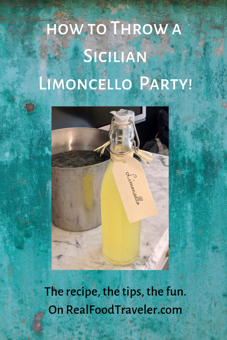 How To Throw A Sicilian Limoncello Party Real Food Traveler Limoncello Vegetable Dumplings Lemoncello