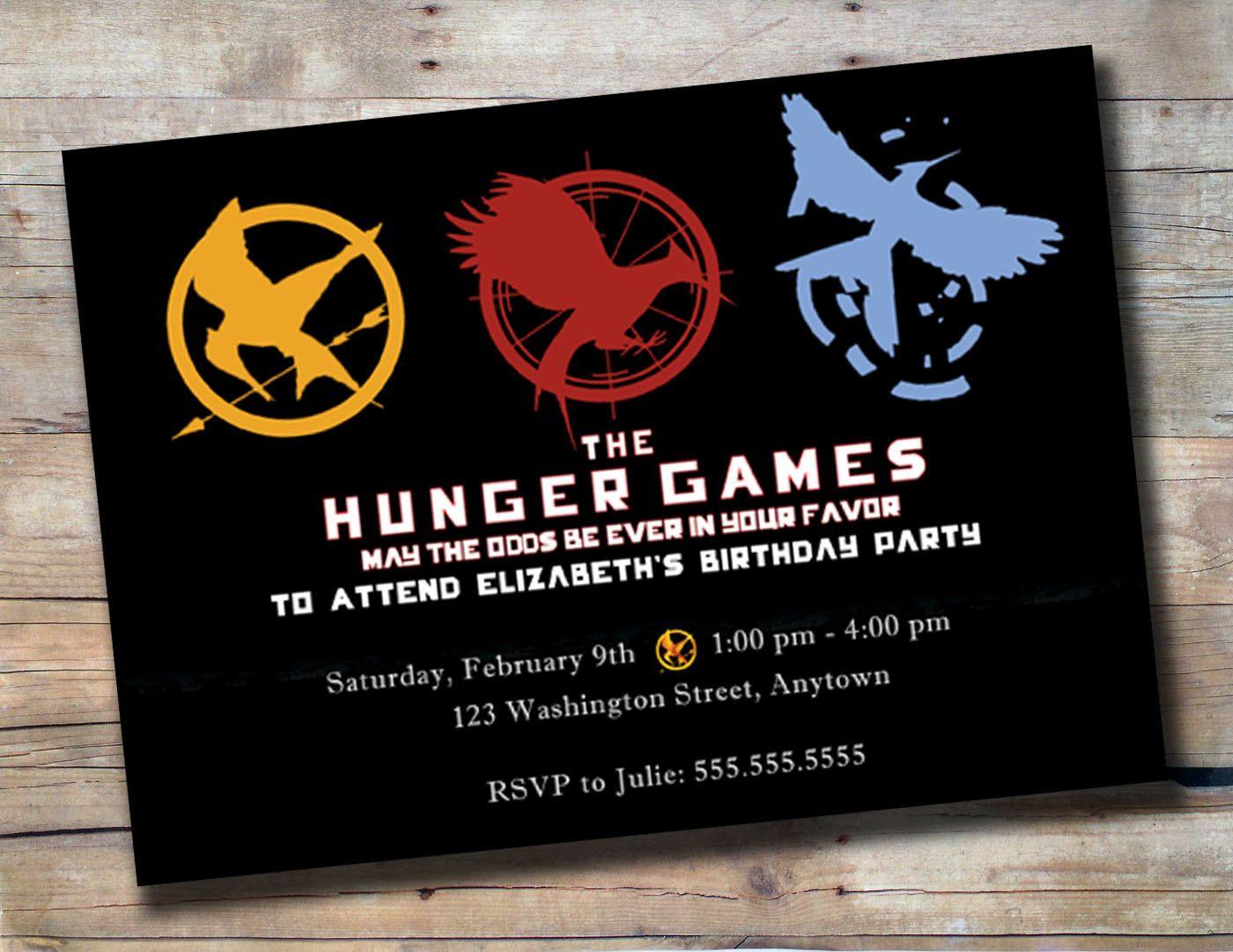 The Hunger Games Birthday Party Invitation. $10.00, via Etsy ...