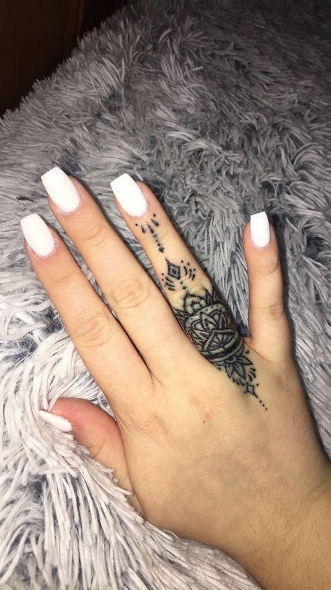 Wedding bands tattoo vine