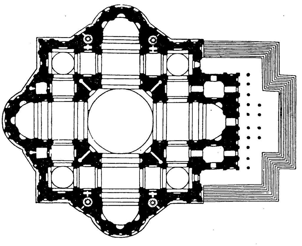 Michał Anioł projekt bazyliki św. Piotra 1546 Renesans