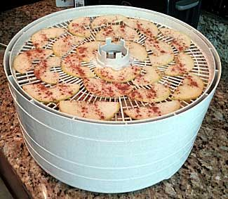 Apple Slices in a Nesco Food Dehydrator