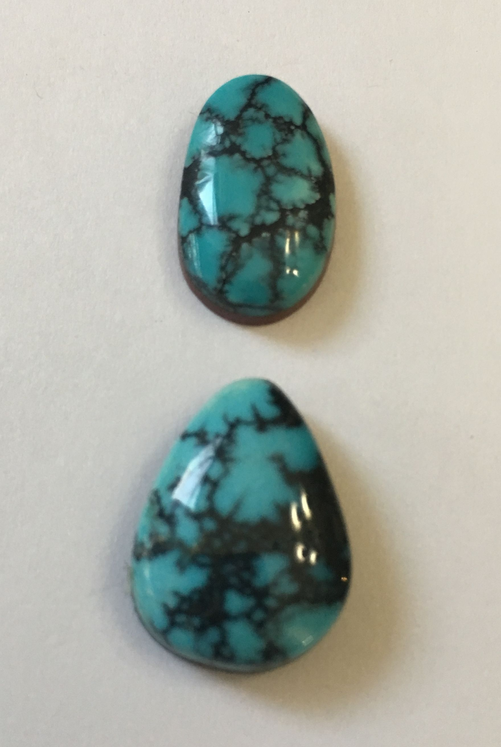 Great turquoise bargain. Blue Ridge Turquoise cabochon Professionally cut cabs at an affordable price Beautiful and unique