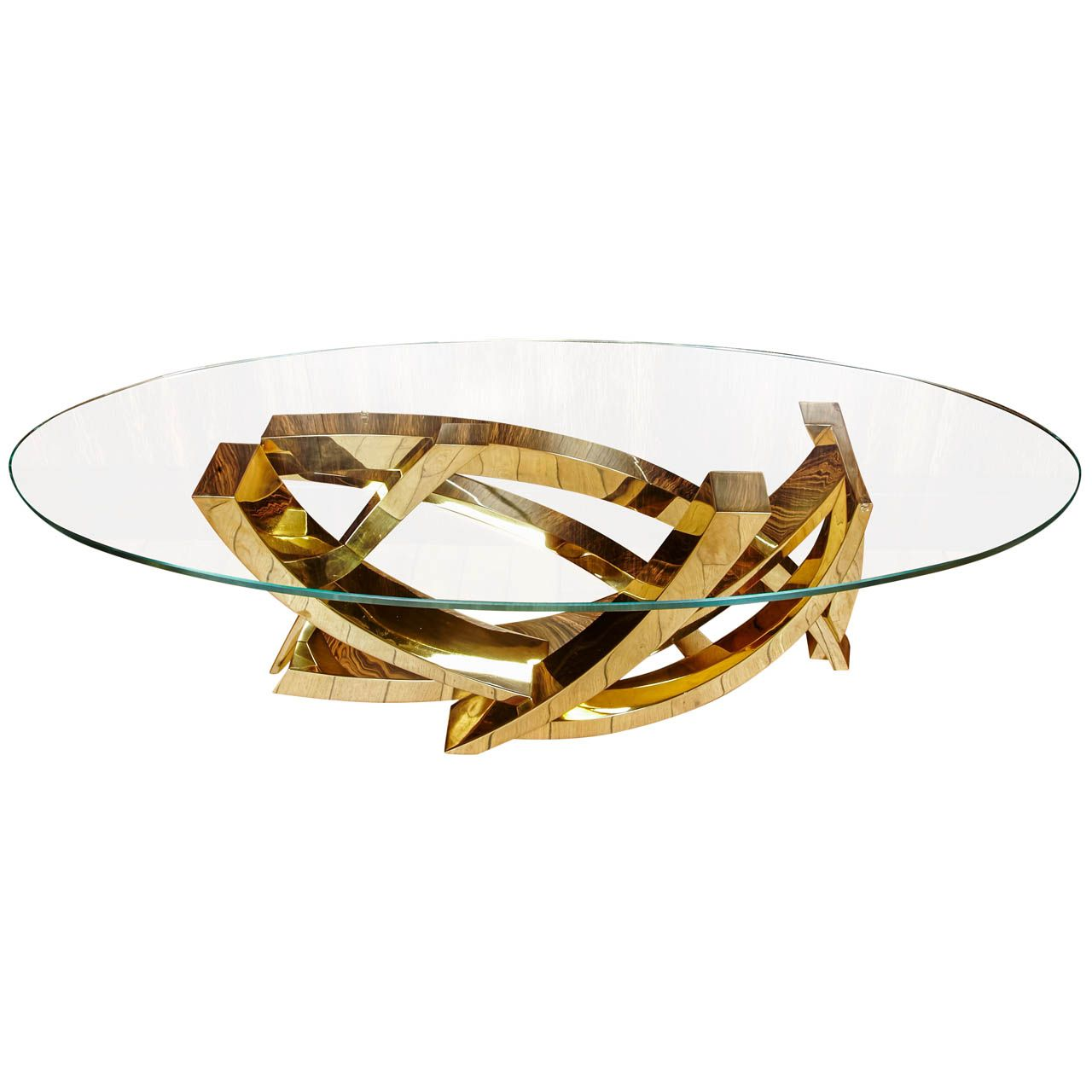 Impressive Coffee Table In Polished Brass By Claude Mercier Sculptor And Designer 70 S Coffee Table Design Brass Coffee Table Coffee Table To Dining Table