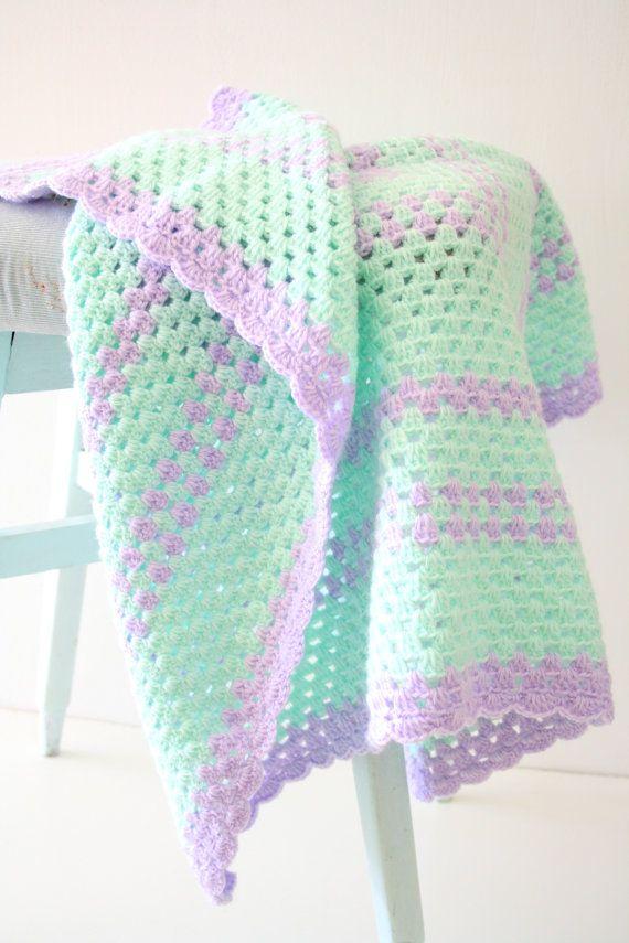Newborn crochet Baby Blanket | Babydecken, Häkeln und Deckchen