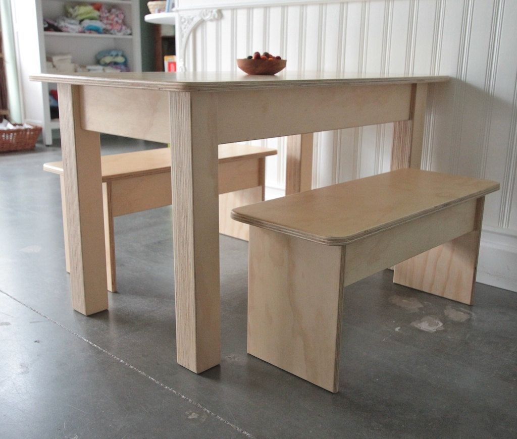 Minimalist Kidu0027s Creative Table And Bench Set // Waldorf   Montessori    Steiner   Homeschool