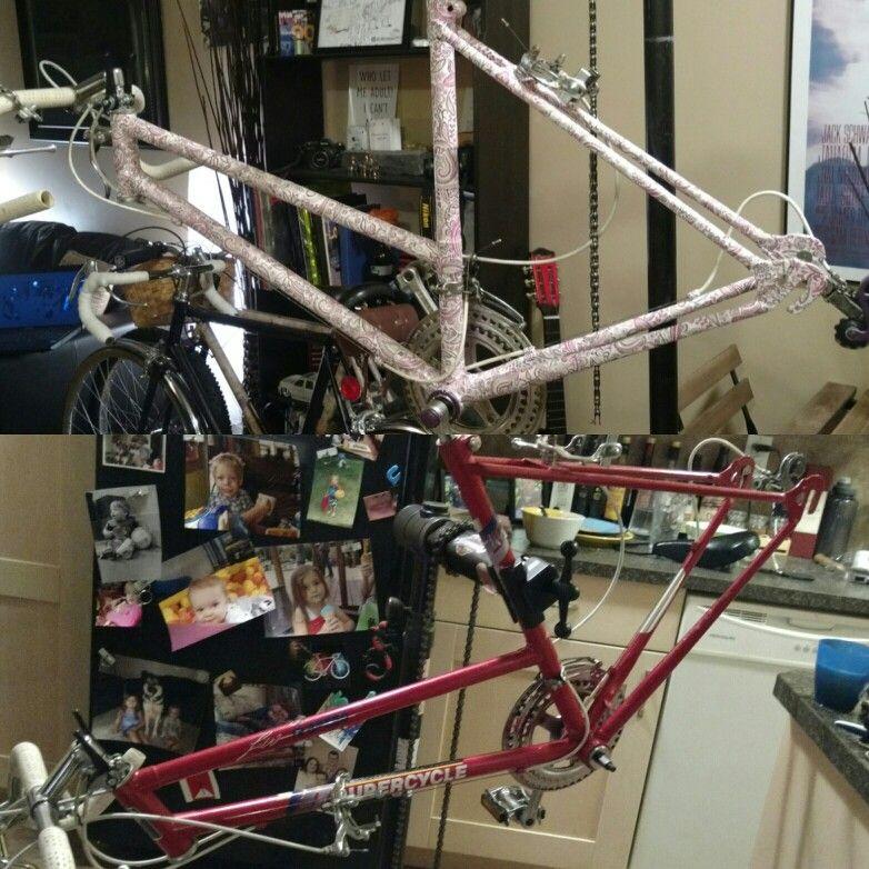 Before And After Of Paisley Bike Custom Bike Creation S
