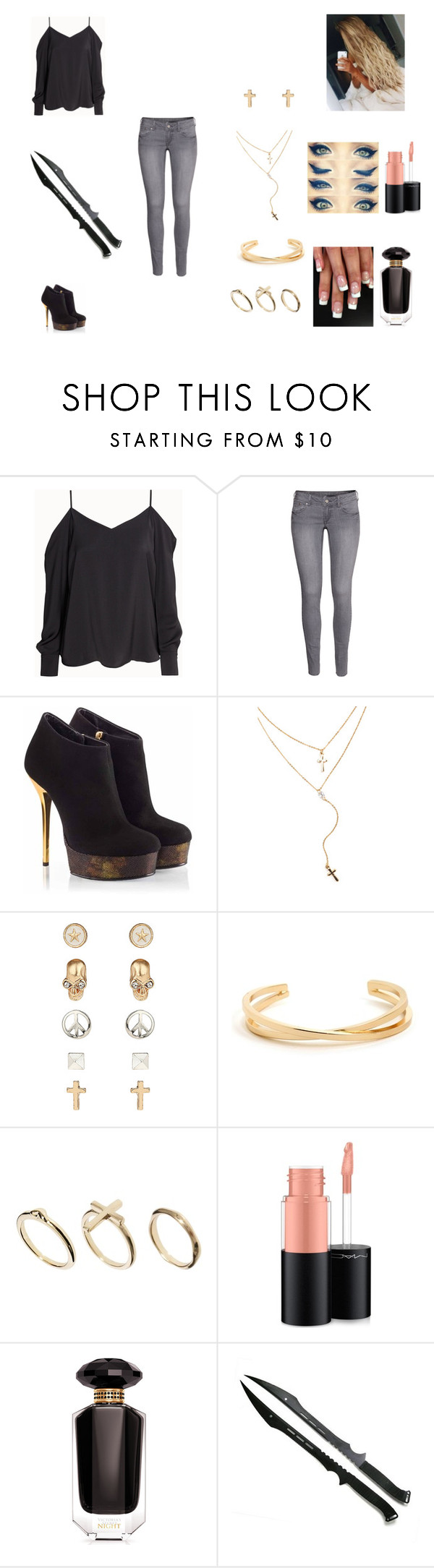 """""""The Archangel #3"""" by jazmine-bowman on Polyvore featuring H&M, Vicini, Topshop, DesignSix, MAC Cosmetics and Victoria's Secret"""