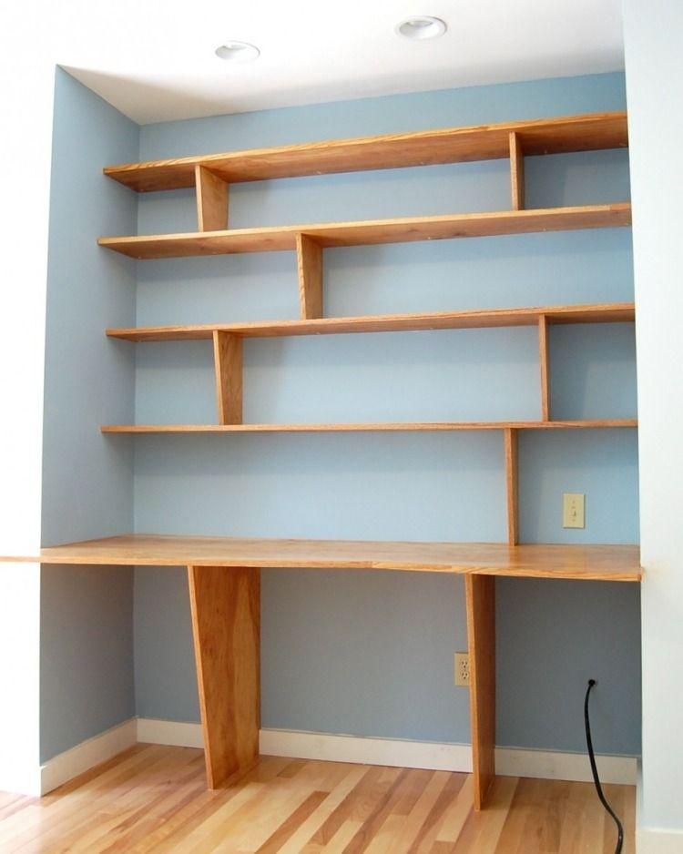 meuble bureau industriel et bureau mural diy en 63 id es bureau pinterest bureau bois. Black Bedroom Furniture Sets. Home Design Ideas
