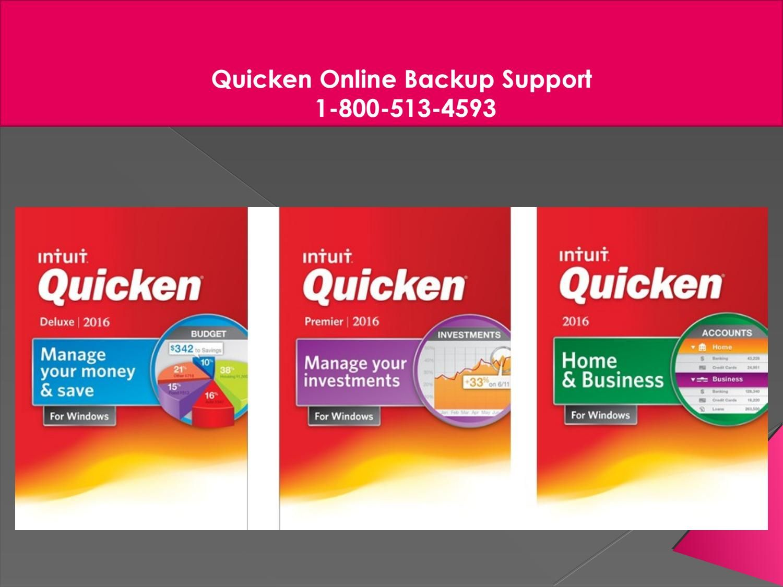 Quicken Support Number 1-800-513-4593, Quicken Online Backup