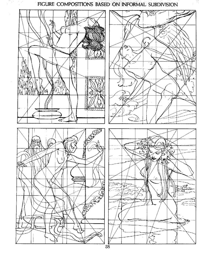 Figure composition based on informal subdivision   andrew loomis ...