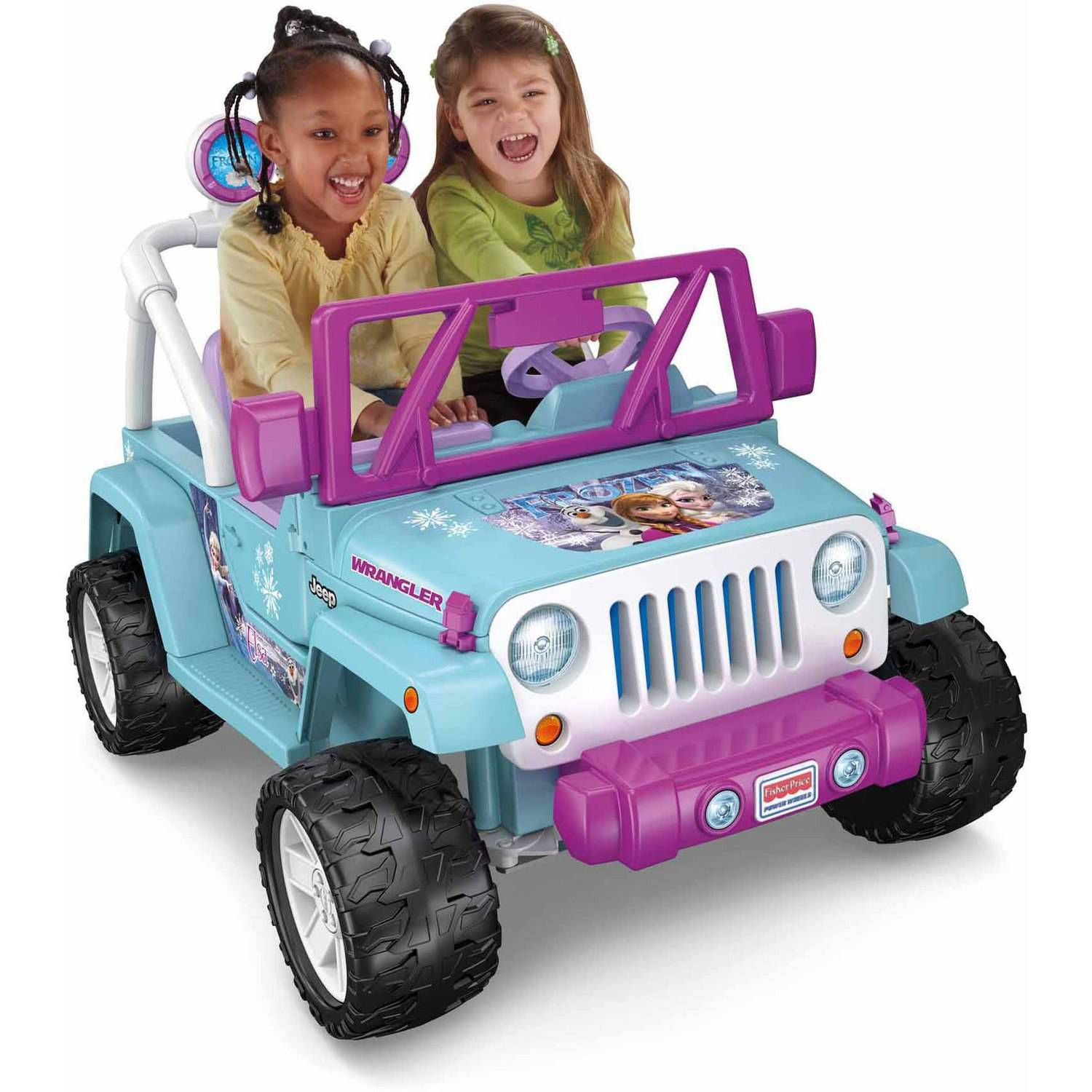 fisher price power wheels disney frozen jeep wrangler 12 volt battery powered ride