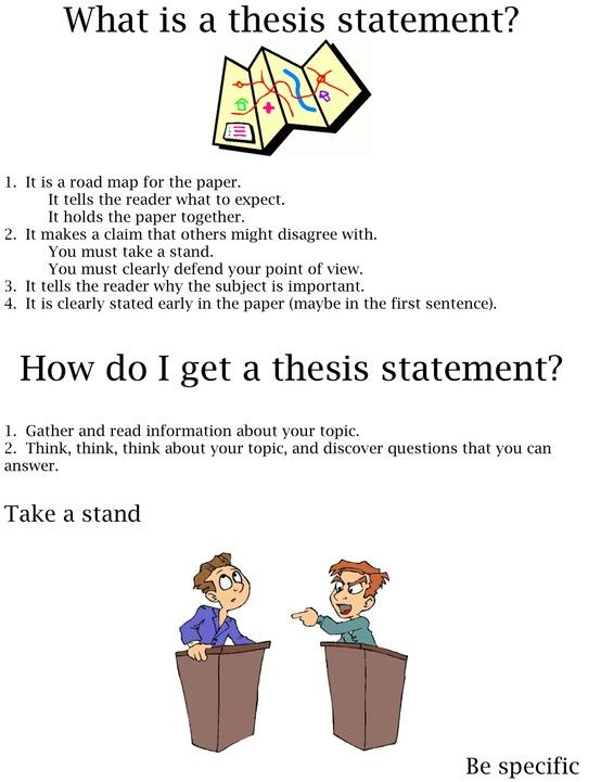 activities for writing a thesis statement Consult the example below for suggestions on how to refine your draft thesis  statement  choose an activity and define it as a symbol of american culture.