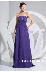 Without too much embellishments or garish color, this simple but decent grape formal dress can neatly match with your chic and outstanding temperament, the natural strapless design not only shows your low-key personality, but also helps to outline your graceful collarbone, and as the unique bright spot, the sparkling sequins which perfectly scatter at the skinny sheath wonderfully polish this elegant formal dress.