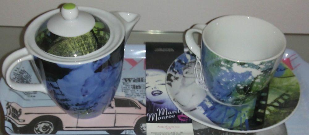 TEIERA E TAZZA MARYLIN MONROE Set Tea Design ANDREA FONTEBASSO Porcellana