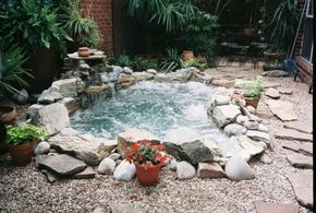 Whirlpool Gartengestaltung Design Ideen Kies Steine ? | Pinteres? Whirlpool Garten Einbauen Ideen