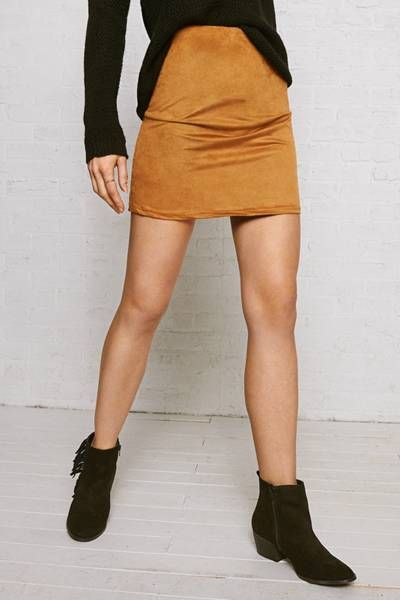 4e9c9106c Don t Ask Why Faux Suede Skirt by AEO