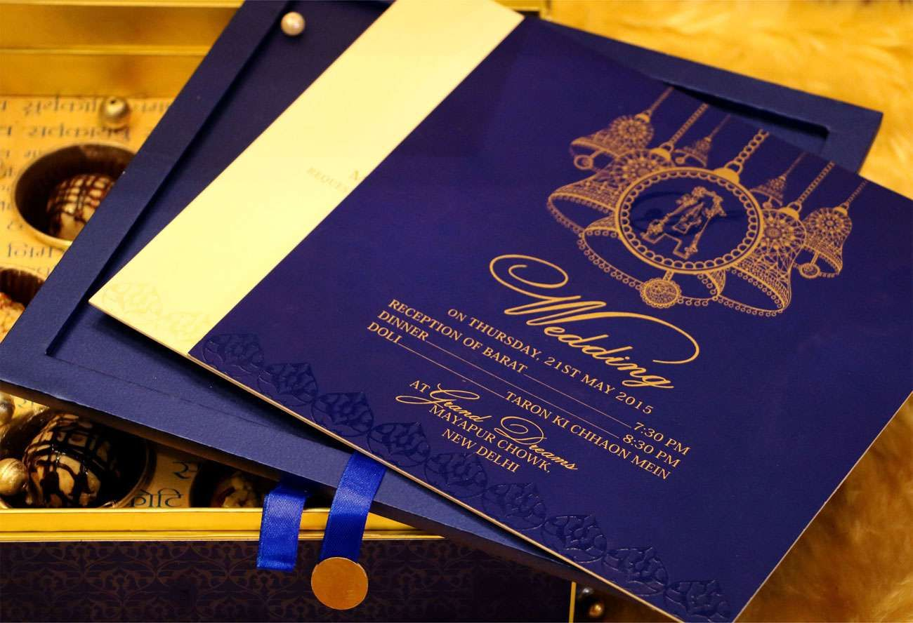 Blue Bell Wedding Card Designer Invitation Card By Vwi New Delhi