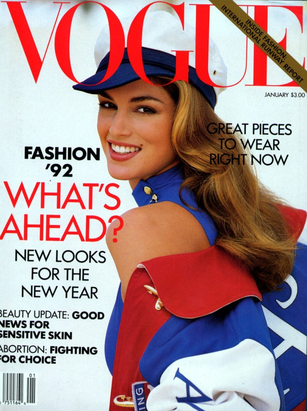 Cindy Crawford | For Vogue US | January 1992