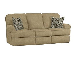 Non Puffy Seamed Reclining Sofa Home Ideas Sofa