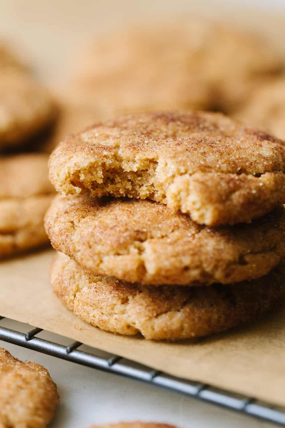 Simple and delicious, these vegan snickerdoodles, rolled