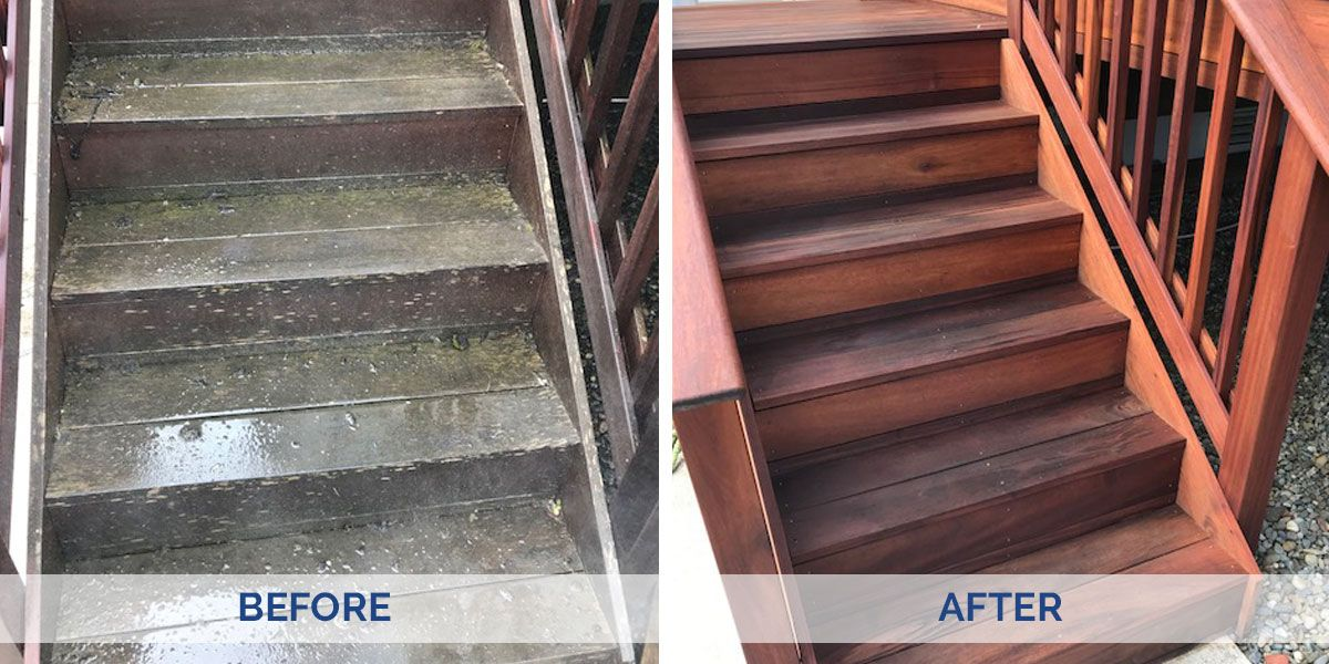 Clean your deck before it gets too cold by using penofin