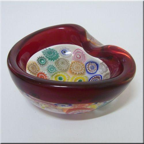 Archimede Seguso Murano Incalmo Millefiori Glass Bowl | eBay