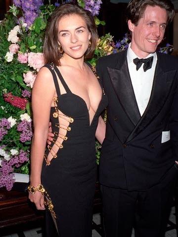 Elizabeth Hurley In That Dress 1994 Bespoke Wedding Gown Glam Dresses Dresses