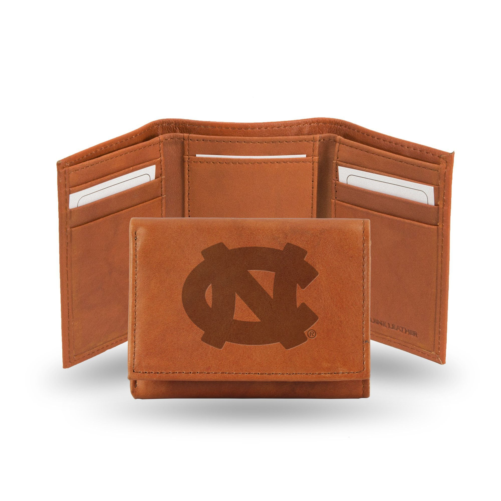 North Carolina Tar Heels Leather Embossed Trifold Wallet