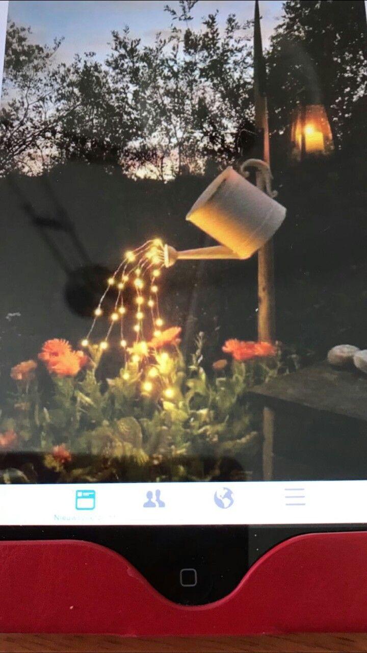 Gieter met lampjes   woon ideetjes   Pinterest