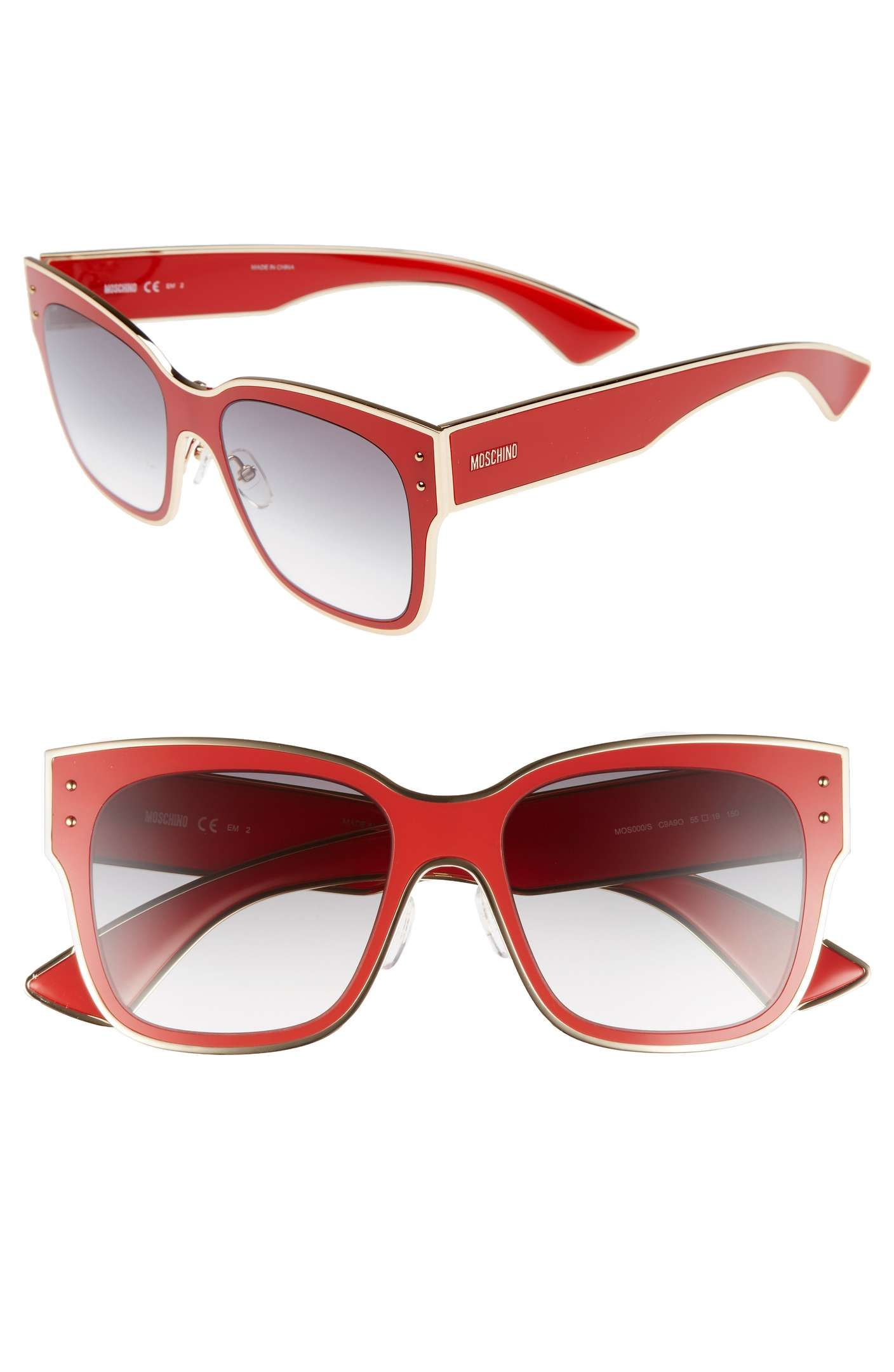 eaed31c1c09c Main Image - Moschino 55mm Cat Eye Sunglasses
