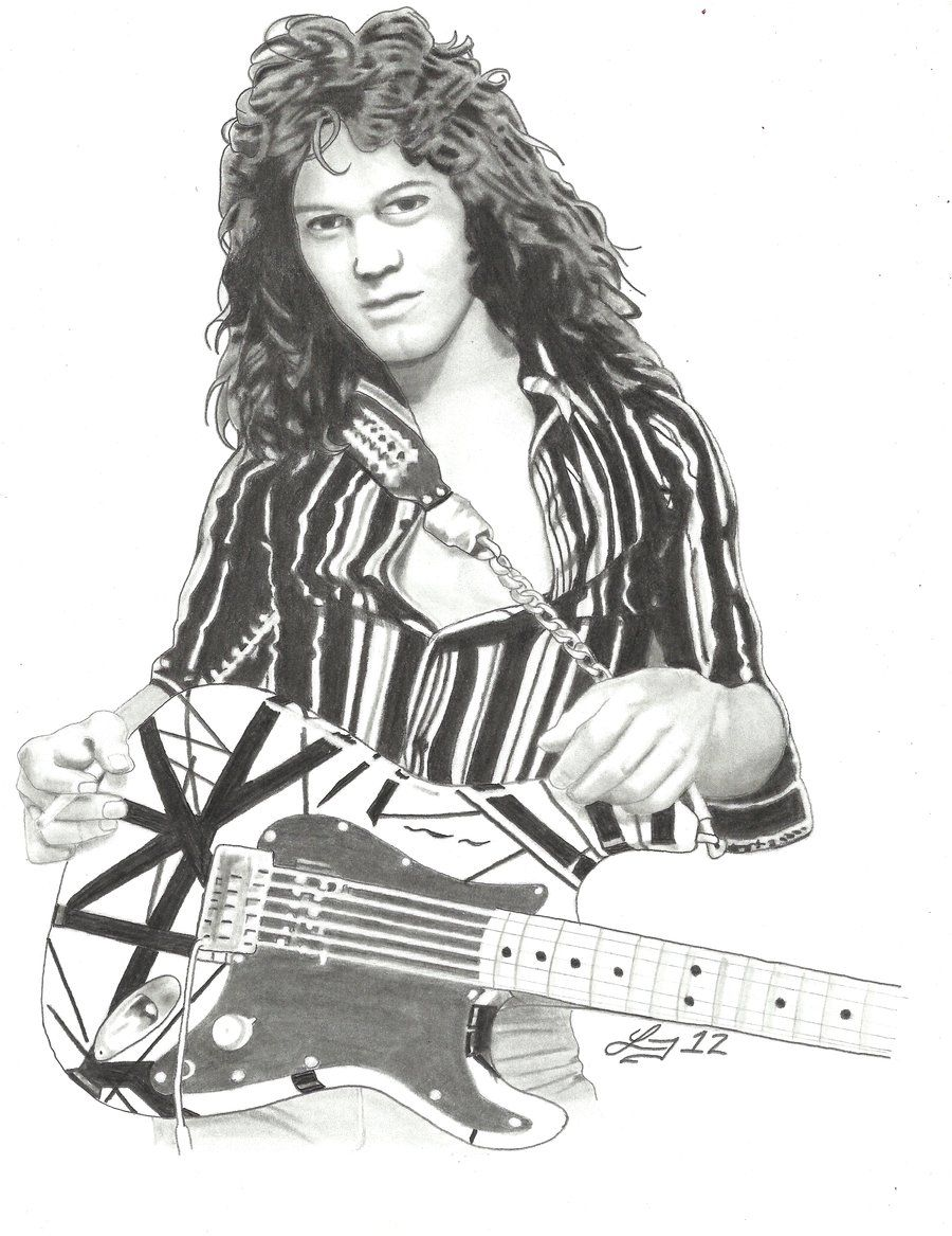 Eddie Van Halen By Lryvan On Deviantart Eddie Van Halen Van Halen Music Artists