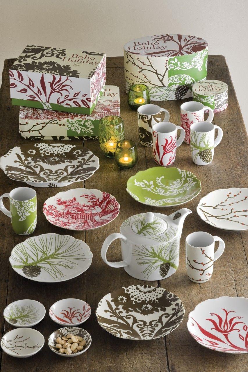 Beautiful winter time collection featuring the Boho Teapot - Rosanna Inc