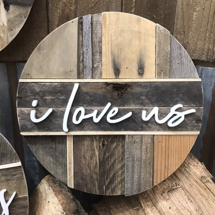 This Is Us Round Pallet Sign   I Love Us Pallet Decor ...