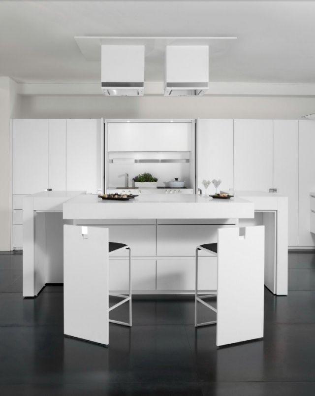 Cuisine blanche et grise - 30 designs modernes et élégants Showroom