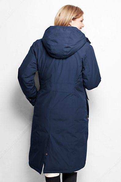 Women's Down Commuter Long Coat from Lands' End