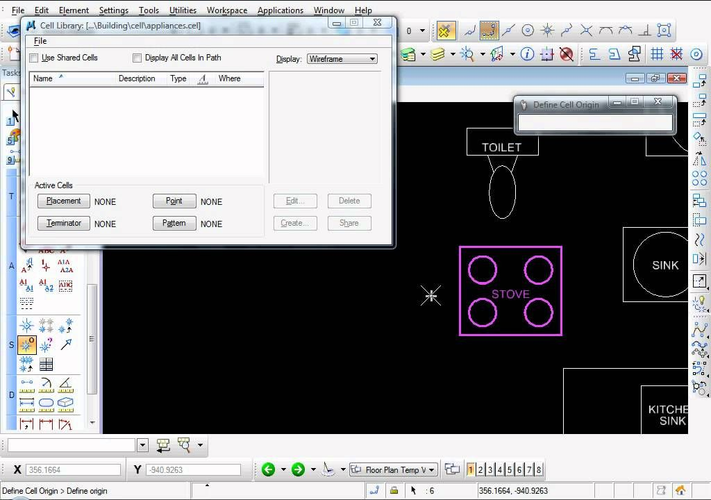 Bentley Microstation V8i - How to create a Cell