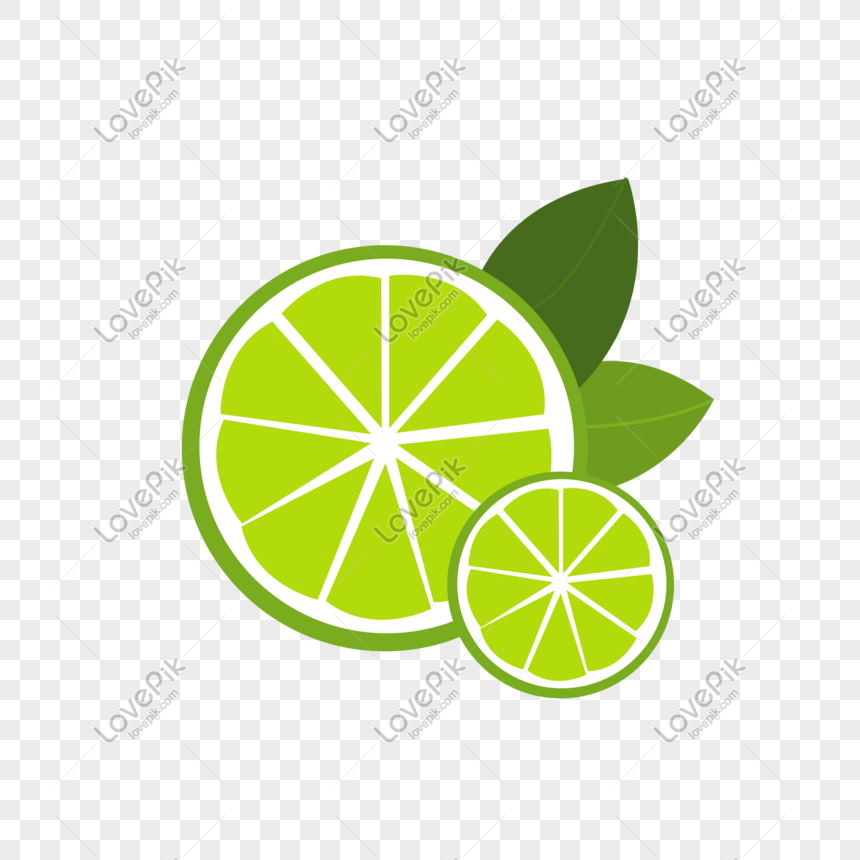 Dibujos Animados De Rodajas De Limon Verde Fresco Y Encantador Tatuajes De Mapa Grafico Png Limon Verde