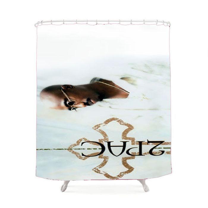 Tupac Shakur Logo Shower Curtain
