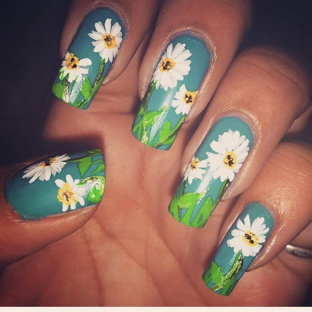 55 Stunning Flower Nail Art Designs That Are Insanely Beautiful