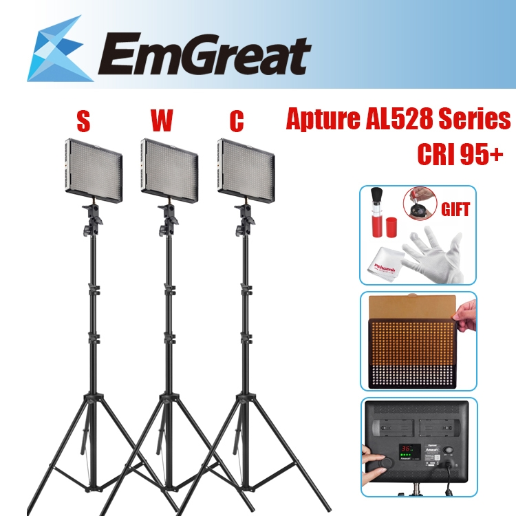 530.99$  Watch here - http://alic8t.worldwells.pw/go.php?t=32286482987 - Aputure Amaran AL-528W + AL-528S + AL-528C LED Video Studio Light + 3* 2M (6.5ft) Mini Studio Light Stands w/25mm Pipe Diameter