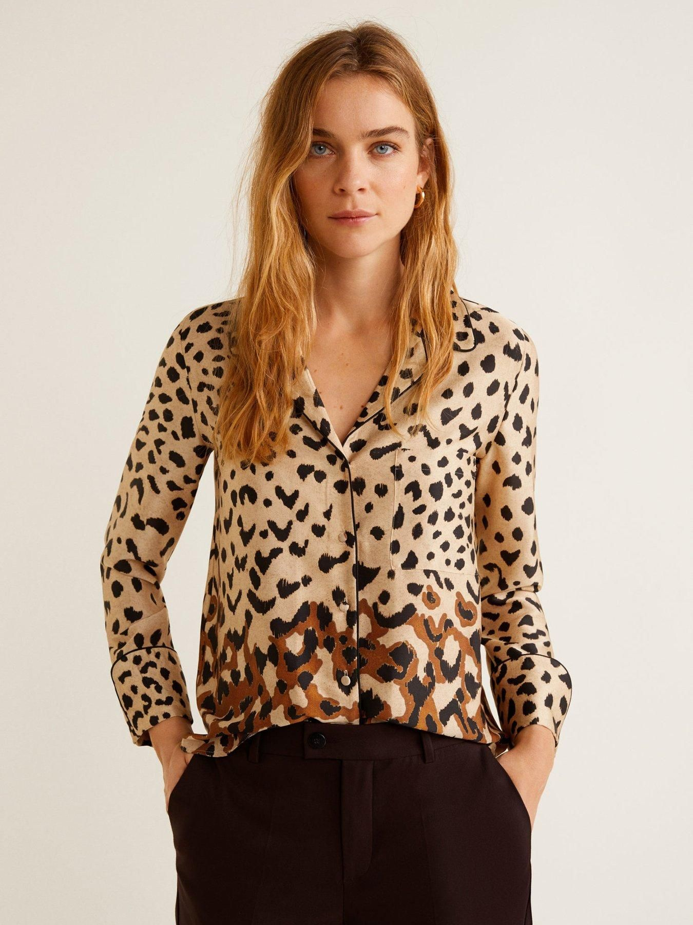 Littlewoods Ireland Online Shopping Fashion Homeware Print Shirts Women Leopard Print Shirt Fashion [ 1800 x 1350 Pixel ]