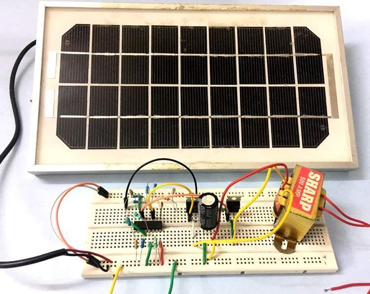 How To Make Solar Inverter Circuit Solar Inverter Electronics