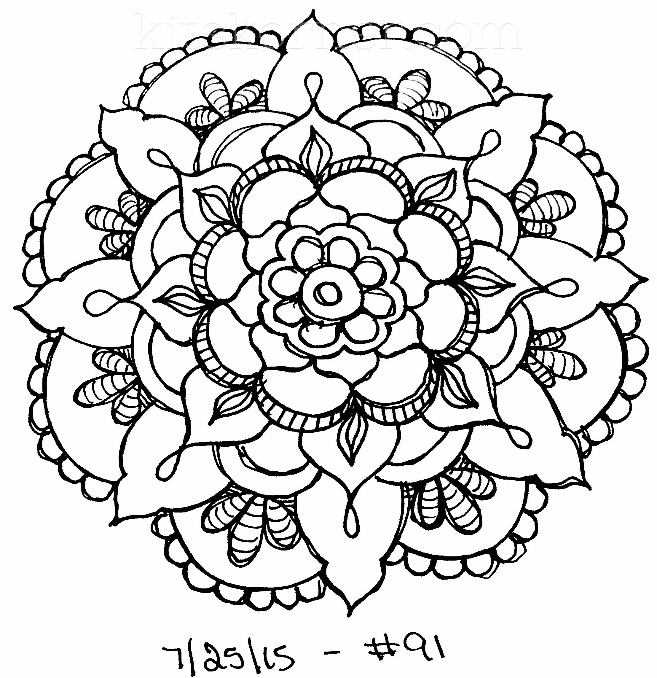 Sketchbook 100 Mandalas Challenge Week 14