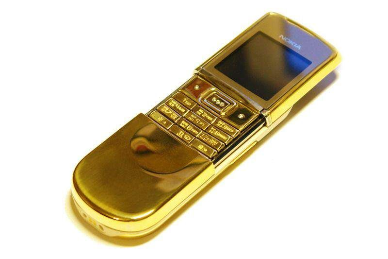 MJ - Nokia 8800 Gold Sirocco Single Copy - Gold Case, Gold Buttons, Gold Box.