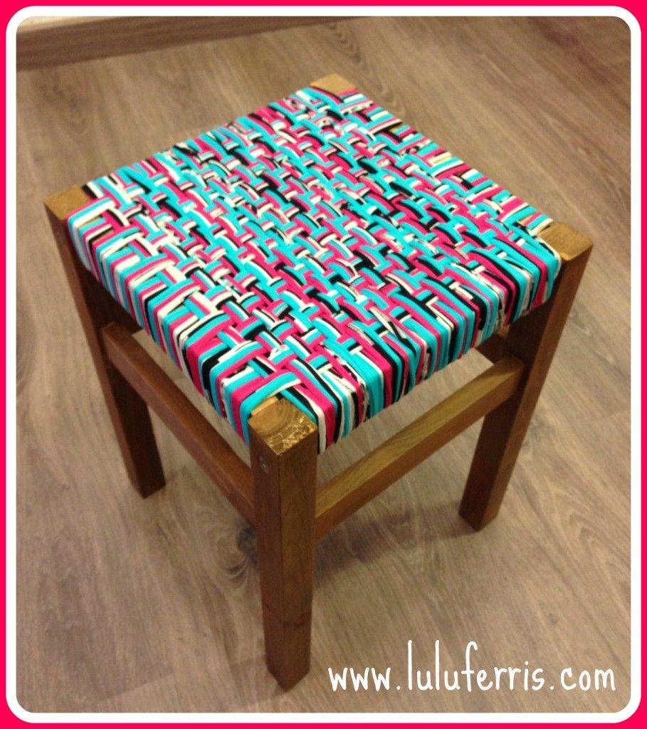 Tutorial taburete con trapillo tienda talleres y cursos de manualidades diy - Tutorial alfombra trapillo ...